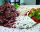 Doner( Turkish Gyro) Ground Beef, house spices served with salad & rice